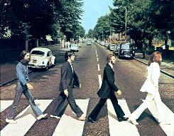 Shown is the CD cover of the Beatles Abbey Road.