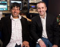 Jelli co-founders Jateen Parekh and Michael Dougherty at Live 105.