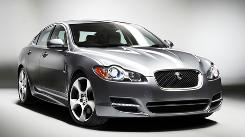 The Jaguar XF diesel has a 3-liter engine, two turbochargers and 275 hp.