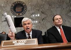 Senate Banking Committee Chairman Christopher Dodd, D-Conn., at a June hearing with Sen. Richard Shelby, R-Ala., the committee's top Republican.