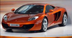 The new Mclaren MP4-12C Automotive is seen at it's unveiling at the Mclaren Technology Centre in Woking, England, Thursday, March 18, 2010.