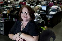 Hot Topic CEO Betsy McLaughlin chills out at the retailer's headquarters in City of Industry, Calif.