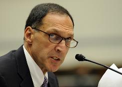 Former Lehman Brothers CEO Richard Fuld testifies before the House Oversight and Government Reform Committee on Capitol Hill in Washington in 2008.