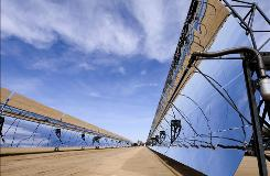 Big plans are underway in California for more industrial-size solar farms like this one near Hinkley. But time's running out on stimulus funds.