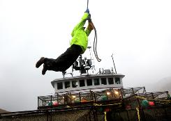 Scott Hillstrand works on the Time Bandit on Deadliest Catch.