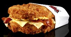 The KFC Double Down has meat and cheese, no bread.