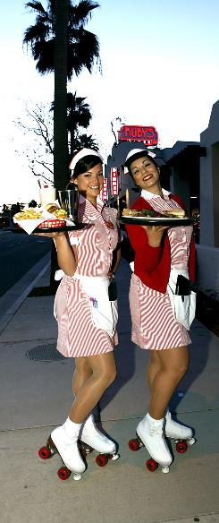 Last week, Ruby's Diner opened its first location with skates-wearing carhops.