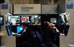 The drop in Goldman shares erased more than $12 billion in market value. 