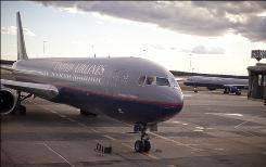 A United jet arrives at Washington Dulles on Jan. 25.