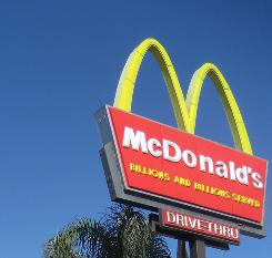 Worldwide sales at restaurants open at least a year grew 4.2%, McDonald's says.