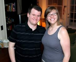 Frank and Erin Lennon, a young couple living in this garage apartment, are working diligently to pay off their debts.