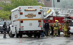 A hazardous materials crew tries to remediate an ammonia leak in Kentucky in April.