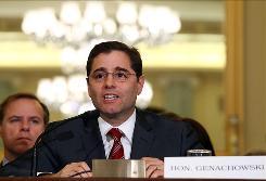 FCC Chairman Julius Genachowski testifies before the Senate commerce committee in April.
