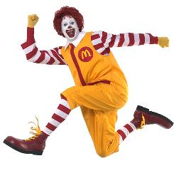 Ronald McDonald in a file photo.