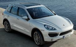 The 2011 Porsche Cayenne S hybrid's new look gives it visual appeal.