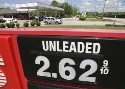Tuesday's price for regular unleaded on a sign at a Speedway gas station in Aurora, Ohio.