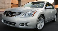 The 2010 Nissan Altima has a new hood, wheels and grille.