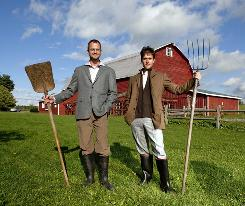 Josh Kilmer-Purcell, left, and Brent Ridge are The Fabulous Beekman Boys, a couple of city men who started a farm in Upstate New York.