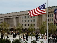 A view of the Pentagon at the 2008 dedication of an on-site Sept. 11 memorial on the seventh anniversary of the 2001 attacks.