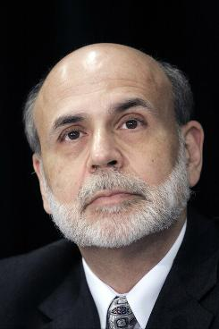 Federal Reserve Chairman Ben Bernanke said the U.S. economy is recovering, albeit slowly. Here, Bernanke during a June 3, 2010 event in Detroit.
