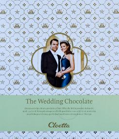 Swedish Crown Princess Victoria and her fiance Daniel Westling appear on a box of chocolates at the Halloren factory in Halle, Germany. The factory produces the wedding chocolates on behalf of the Swedish royal dynasty.