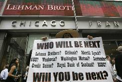 Lehman Brothers, a 158-year-old investment bank choked by the credit crisis and falling real estate values, filed for Chapter 11 bankruptcy protection on Monday, Sept. 15, 2008. Fears ran rampant about more companies failing as a collapsing housing market threatened to bring down the banking system, 