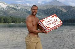 "This video grab from a new Old Spice advertisement shows Isaiah Mustafa as he reprises his role as a smooth-talking ""ladies man."""