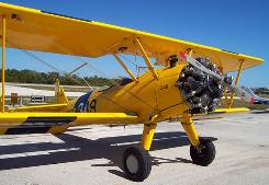 This 1941 Stearman, worth about $400,000, was repossessed by Ken Cage of International Recovery and Remarketing Group in Orlando.