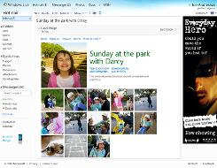 The new Windows Live Hotmail lets you share hundreds of photos within one e-mail.