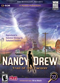"Her Interactive's ""Nancy Drew: Trail of the Twister,"" is a computer mystery game."