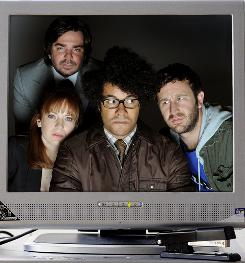"Cast of the British workplace comedy,""The IT Crowd,"" which begins season four on IFC."