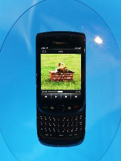 The new BlackBerry Torch 9800 smartphone features a touch-screen, slide-out keyboard and a new operating system.