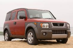 The 2003 Honda Element is among the nearly 400,000 cars Honda is recalling.
