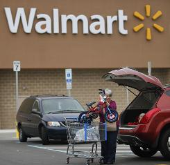 The biggest cash contributor to charity was Wal-Mart, according to a survey by the Chronicle of Philanthropy and USA TODAY.