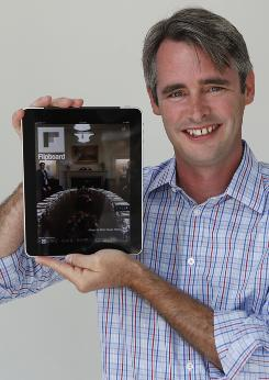 Flipboard CEO Mike McCue with the new iPad app.