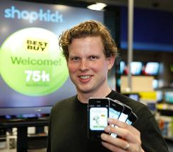 Shopkick CEO Cyriac Roeding works with retailers to offer rewards to shoppers in stores using the smartphone app.