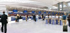 Artist's rendering shows how JFK airport's Terminal 4 will look after a $1.2 billion expansion.
