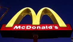 A McDonald's logo outside one of the company's restaurants. File photo.