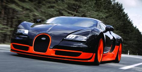 The Bugatti Veyron 16.4 Super Sport took the crown of world's fastest production car when this model hit 268 miles an hour in July.