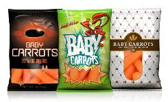 This proposed look for baby carrots packaged in Doritos-like bags and sold in vending machines is part of a new marketing campaign that takes aim at the junk food business.