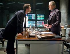 "Shia LaBouef, left, and Michael Douglas in a scene from the motion picture ""Wall Street 2: Money Never Sleeps."""