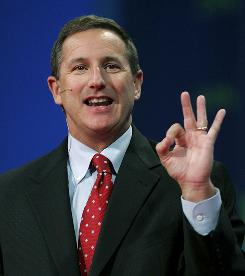 Mark Hurd at the 2006 Oracle OpenWorld conference in 2006.
