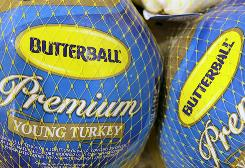 Butterball frozen turkeys in a 2009 file photo.