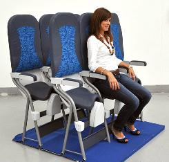 AvioInteriors' seats, which haven't been approved yet, are designed for shorter flights.