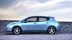 The 2011 Nissan Leaf is billed as having a range of about 100 miles between charges.