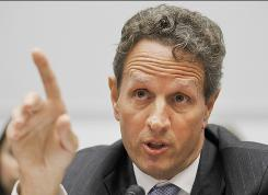 Treasury Secretary Timothy Geithner testifies Wednesday before the House Financial Services Committee hearing.