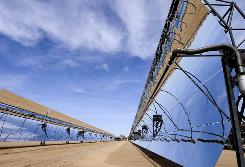 California is home to many solar projects, including the NextEra Harper Lake Solar Electric Generating System. The state has set a goal of getting 33% of its energy from renewable sources by 2020.