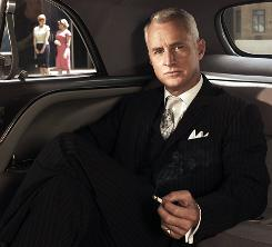 John Slattery, playing Roger Sterling, in a scene from 'MadMen'.