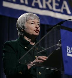 Janet Yellen becomes vice chairwoman of the Federal Reserve board, the Fed's second-highest ranking official.