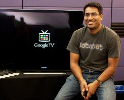 Rishi Chandra, lead product manager for Google TV, at Google headquarters in California.